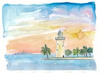 Boca Chita Key Biscayne Lighthouse