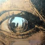 eye reflection brown Prints & Posters