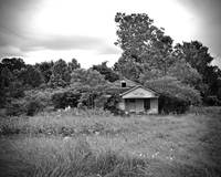 Texas Forgotten - Abandoned Roadside Home BW