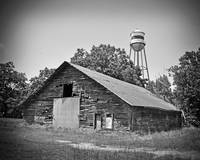 Texas Forgotten - Wooden Barn BW