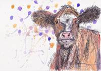 Illustrated Cow
