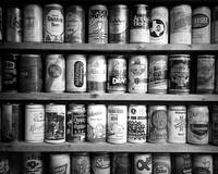 Vintage Beer Cans BW