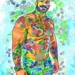 Aqua Flower Bear by RD Riccoboni