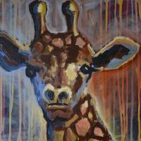 The Giraffe Stare Art Prints & Posters by penny pausch