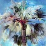 Blue Palm Tree and Sky by RD Riccoboni
