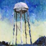 Water Tower in The Night by RD Riccoboni