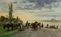 Antoni Kozakiewicz~The Ferry Across the Vistula Ri