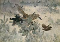 Bruno Liljefors~Hawk and Black-Game
