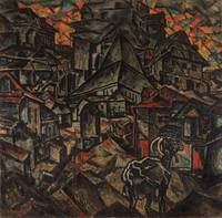Abraham Manievich~Destruction of the Ghetto, Kiev