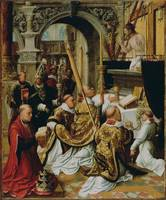 Adriaen Isenbrandt~The Mass of Saint Gregory the G