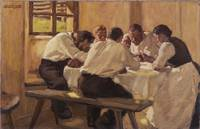 Albin Egger-Lienz~Lunch (The Soup, Version II)