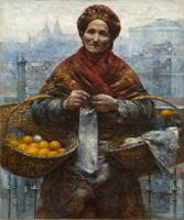 Aleksander Gierymski~Jewish Woman with Oranges