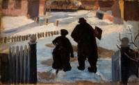 Anna Ancher~Michael Ancher on his way to his studi