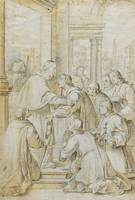 Antoni Viladomat~Saint Bruno Meets Bishop Hugh of