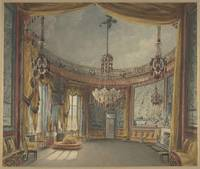 Augustus Charles Pugin~The Saloon, Brighton Pavili