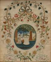 c. 1810~Catharine Elliott Memorial Picture