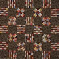 c. 1890~Pieced Child's Quilt Variable Stars and Ch