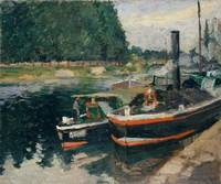 Camille Pissarro~Barges at Pontoise