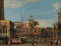 Canaletto~The Clock Tower in the Piazza San Marco