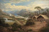 Charles Blomfield~Orakei Korako on the Waikato