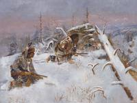 Charles Marion Russell~Crow Indians Hunting Elk