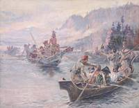 Charles Marion Russell~Lewis and Clark on the Lowe