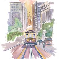 """""""San Francisco Cable Car Down To Golden Gate"""" by arthop77"""