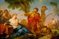 Charles-Joseph Natoire~Jacob and Rachel Leaving th