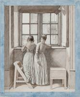 Christoffer Wilhelm Eckersberg~At a Window in the