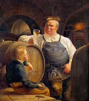 Adolf Schrodter~The Rhine wine tasting