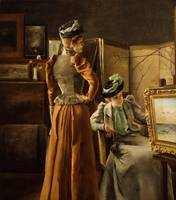 Alfred Stevens~Visit to the Studio