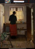 Anna Ancher~The maid in the kitchen