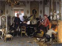 Anton von Werner~In the Troops' Quarters outside P