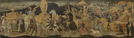 Apollonio di Giovanni~Darius Marching to the Battl