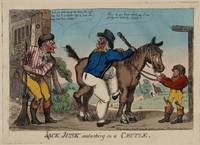 Attributed George Cruikshank~JACK JUNK Embarking o