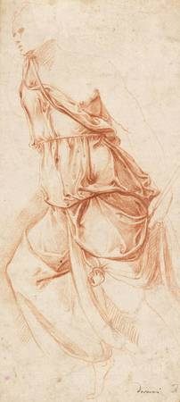 Battista Franco~Drapery Study for the Angel of the