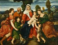 Bonifazio Veronese~The Holy Family with Tobias and