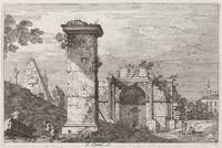 Canaletto~Landscape with Ruined Monuments [right]
