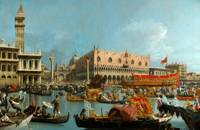 Canaletto~The Bucintoro returning to the Molo on A