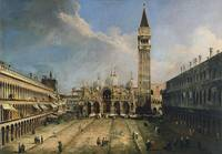 Canaletto~The Piazza San Marco in Venice