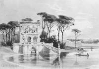 Carl Werner~Italian Lake Scene with Villa (from Cr