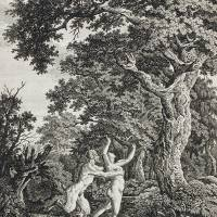 """""""Carl Wilhelm Kolbe~Satyr Pursuing a Nymph"""" by Old_master"""