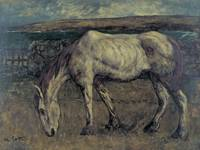 Charles Cottet~Old Horse in the Wasteland