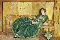 Childe Hassam~April  (The Green Gown)
