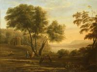 Claude Lorrain~Pastoral Landscape with Piping Figu