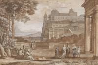 Claude Lorrain~Queen Esther Approaching the Palace