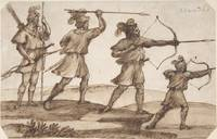 Claude Lorrain~Three Archers and a Figure with a S
