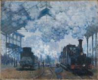 Claude Monet~The Gare Saint-Lazare Arrival of a Tr