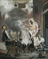 Cornelis Troost~Harlequin, Magician and Barber The