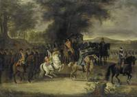 Cornelis Troost~Inspection of a Cavalry Regiment,